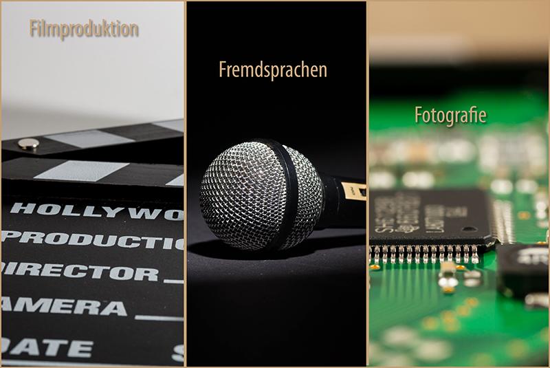Mediendesign - Filmproduktion, Fremdsprachen und Fotografie
